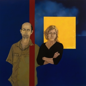 Camille and Tarik - oil on canvas - 130 x 130 - 2009